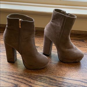 Nature Breeze Chunky Thick Platform Booties